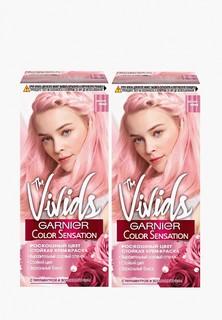 """Краска для волос Garnier """"Color Sensation, Роскошь цвета"""", The Vivids, с перламутром, Пастельно-розовый, 110 мл, 2 шт."""