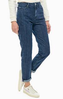 Зауженные джинсы в полоску Mom Straight Lee