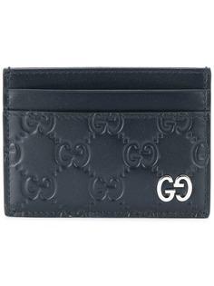 Gucci кошелек для карт с логотипами