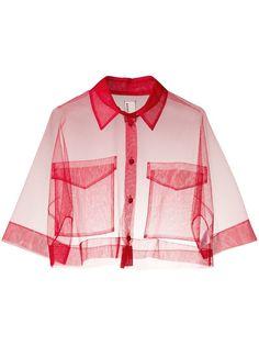 Antonio Marras укороченная прозрачная рубашка