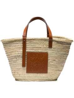 Loewe массивная сумка-корзина с кожаной отделкой