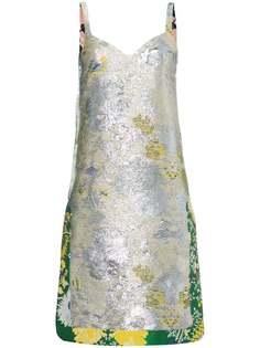 Rochas жаккардовое платье с эффектом металлик