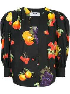 MSGM рубашка с фруктовым принтом
