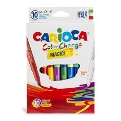 Фломастеры Carioca Cambiacolor 42737 10цв. +2волшеб. 24 шт./кор.