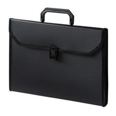 Портфель Бюрократ -BPP6TLBLCK 6 отдел. A4 ребрист. поверхн. с окантовкой пластик 0.7мм черный 16 шт./кор.