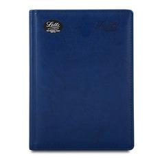 Ежедневник LETTS UMBRIA, недатированный, A5, белые страницы, кожа искусственная, синий
