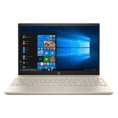 """Ноутбук HP Pavilion 15-cs0025ur, 15.6"""", IPS, Intel Core i5 8250U 1.6ГГц, 4Гб, 16Гб Intel Optane, 1000Гб, nVidia GeForce Mx150 - 2048 Мб, Windows 10, 4JU96EA, золотистый"""
