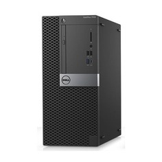 Компьютер DELL Optiplex 7050, Intel Core i5 6500, DDR4 8Гб, 1000Гб, AMD Radeon R5 430 - 2048 Мб, DVD-RW, Windows 10 Professional, черный и серебристый [7050-4822]