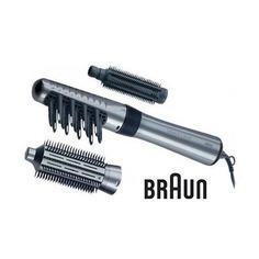 Фен-щетка BRAUN AS330, серебристый