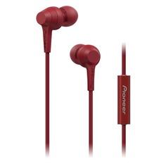 Наушники PIONEER SE-C1T-R, вкладыши, красный, проводные