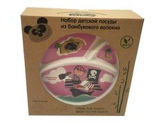 Набор посуды Eco Baby Пираты Pink 500033
