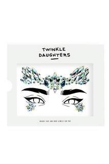 Патч для лица «корона» с голубыми кристаллами Twinkle Daughters