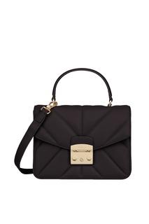 Черная стеганая сумка-кроссбоди Metropolis Furla