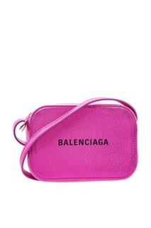 Сумка цвета фуксия Everyday Camera Bag Balenciaga