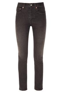 Черные джинсы-скинни из стретч-денима Balenciaga