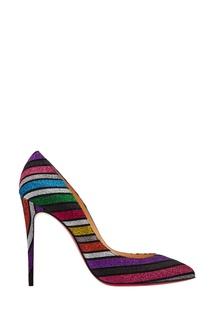 Разноцветные туфли с глиттером Pigalle Follies 100 Christian Louboutin