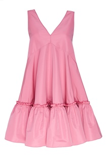 Розовое платье из тафты No21