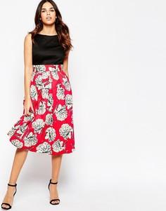Платье миди с принтом Closet - Мульти