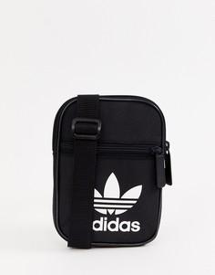 Черная фестивальная сумка с логотипом adidas Originals - Черный