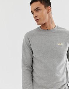 Серый свитшот с логотипом Nudie Jeans Co Samuel - Серый