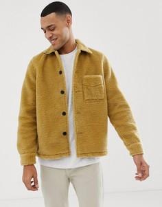 Светло-коричневая куртка из переработанного флиса Nudie Jeans Co Sten - Темно-синий