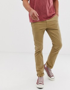 Бежевые узкие чиносы Nudie Jeans Co - Светло-бежевый