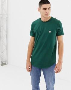 Длинная футболка с необработанными краями Le Breve - Зеленый