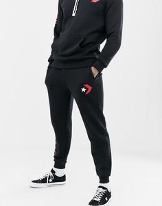 Черные джоггеры с принтом Converse 10007056-A02 - Черный