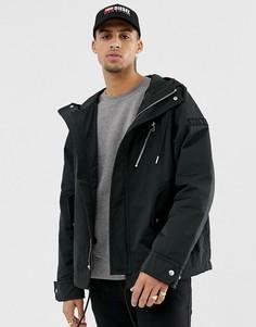 Черная куртка на молнии с контрастной отделкой Diesel J-Ryota-WH - Черный
