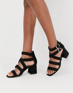 Черные босоножки с ремешками New Look - Черный