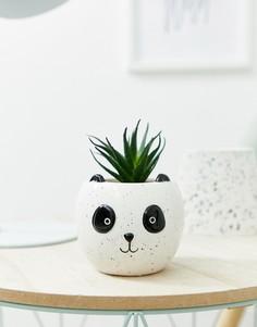 Цветочный горшок в виде панды - Белый Candlelight