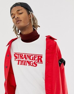 Белая футболка с логотипом Pull&Bear X Stranger Things - Белый