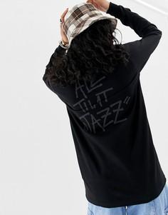 Лонгслив с логотипом и надписью all that jazz на спине Stussy - Черный