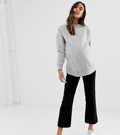 Черные расклешенные вельветовые джинсы ASOS DESIGN Maternity Egerton - Черный