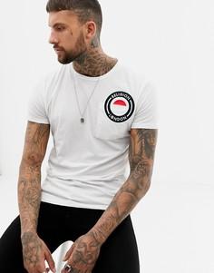 Обтягивающая футболка с вышитым логотипом Religion - Белый