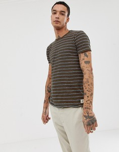Темно-синяя футболка с полосками Nudie Jeans Co Anders - Темно-синий