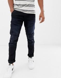 Зауженные стретчевые джинсы с затягивающимся шнурком G-Star Rackam dc - Темно-синий