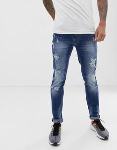 Суженные книзу синие джинсы Blend Еcho - Синий