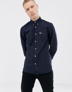 Темно-синяя оксфордская рубашка Fred Perry - Темно-синий