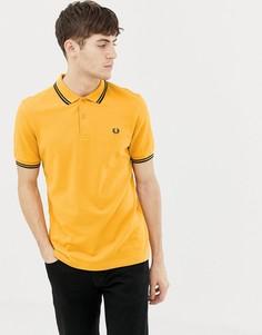 Поло желтого цвета с контрастной отделкой Fred Perry - Желтый