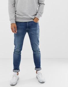 Выбеленные джинсы скинни Levis 501 - Синий