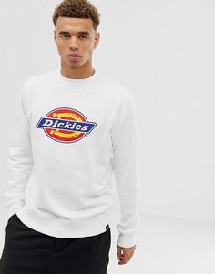 Белый свитшот с большим логотипом Dickies Harrison - Белый