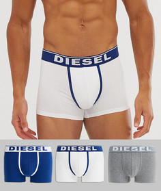 Набор из 3 пар трусов разных цветов с логотипом Diesel - Мульти