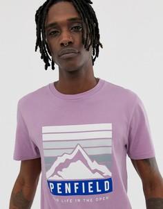 Футболка лавандового цвета с круглым вырезом и принтом логотипа Penfield - Фиолетовый