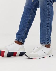 Белые кожаные кроссовки с логотипом Tommy Hilfiger - Белый