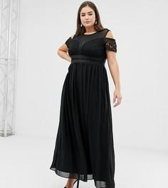 Кружевное платье миди Lovedrobe - Черный