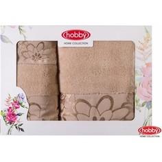 Набор из 3 полотенец Hobby home collection Dora 30x50/50x90/70x140 бежевый (1501001213)