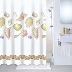 Штора для ванной Milardo Shelly beach 180x180 см (531V180M11)