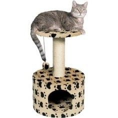 Когтеточка TRIXIE Toledo домик с площадкой с рисунком для кошек 61см (43704)