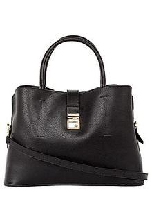 Черная сумка из натуральной кожи La Reine Blanche